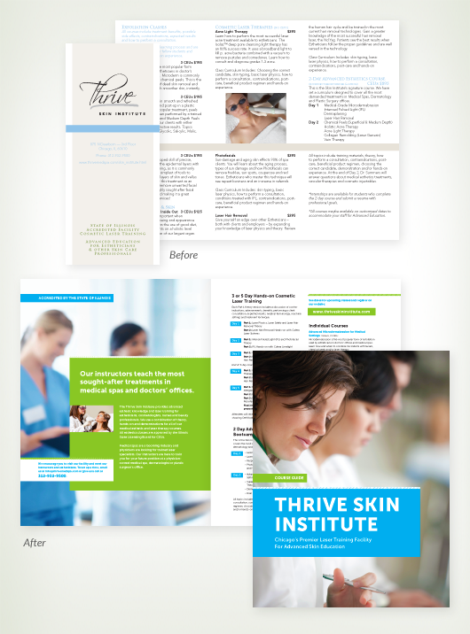 Brochure design before and after