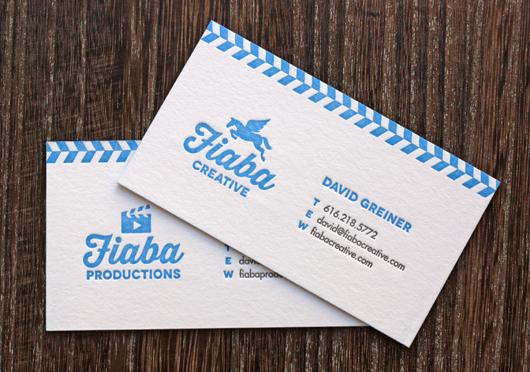 Letterpress business cards by Jessica Jones