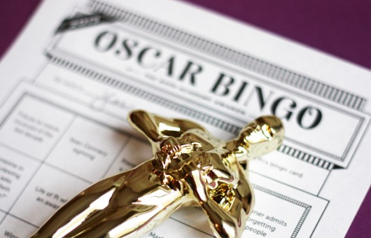 Oscar bingo game and Oscar ballot printable
