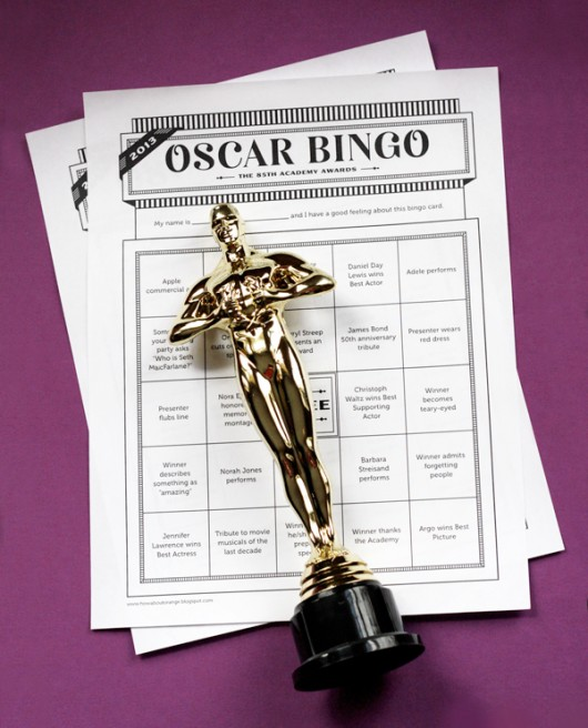 Printable Oscars bingo cards
