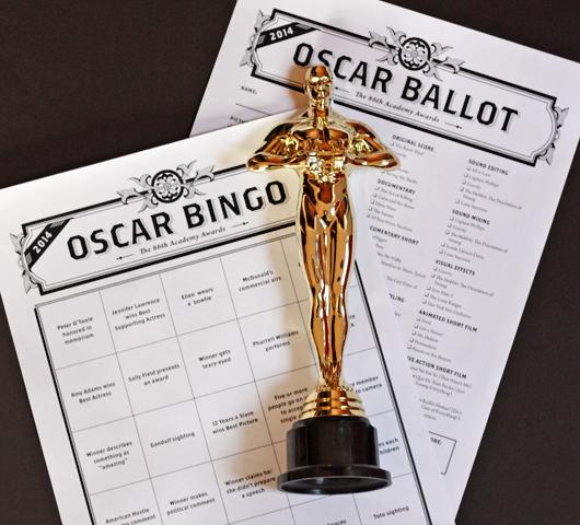 Oscar bingo cards free printable