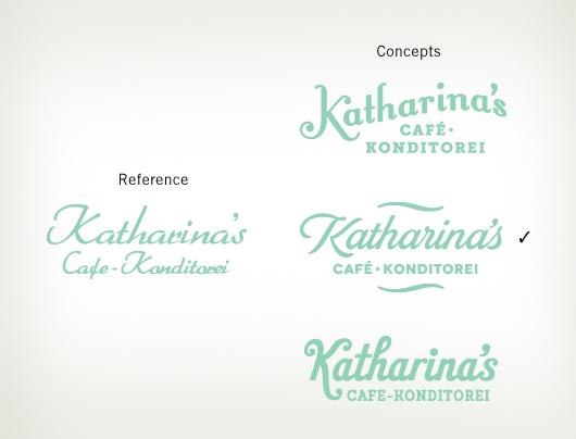 Cafe script logos