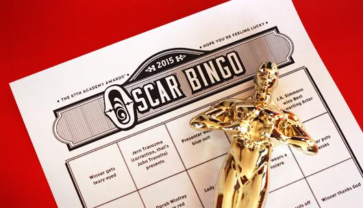 Free Oscar bingo game with printable ballot