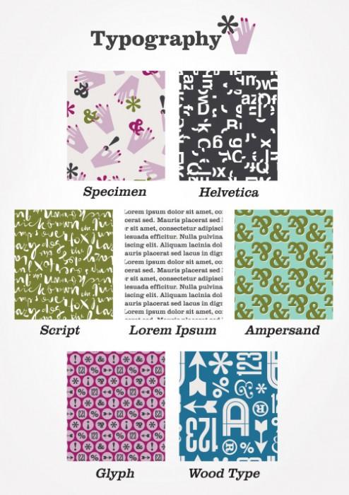 Typography fabric by Jessica Jones