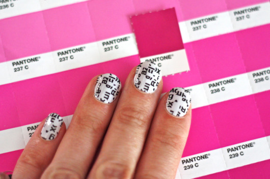 Typography manicure