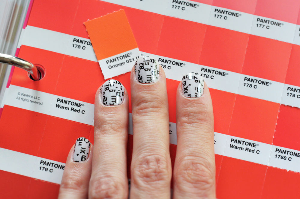 typography nail design art stickers