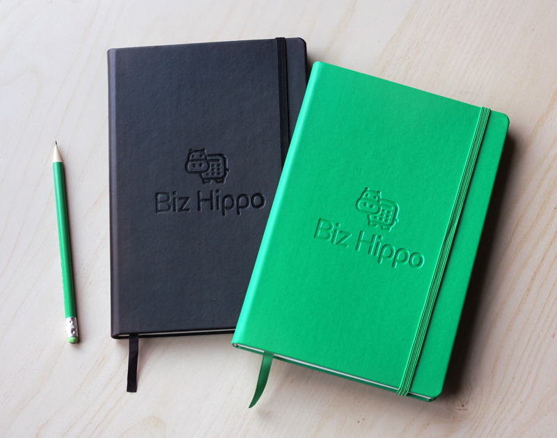 Biz Hippo accounting logo notebooks