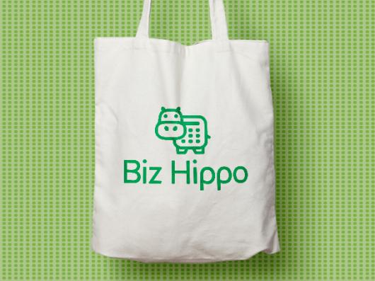 Hippo branding tote bag