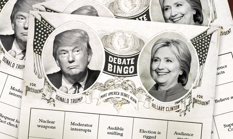 Presidential Debate Bingo by Jessica Jones