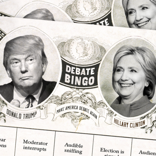 2016 presidential third debate bingo