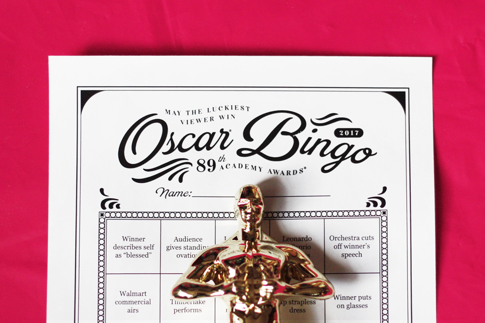 2017 Oscar Bingo free party game