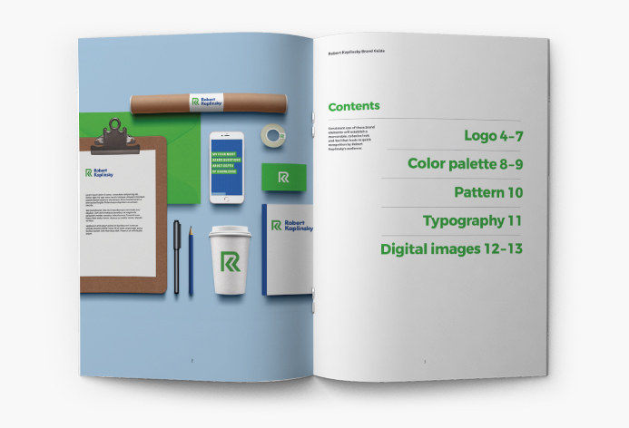Example brand style guide by Jessica Jones
