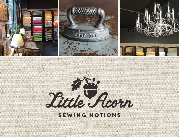 Little Acorn logo for sewing store