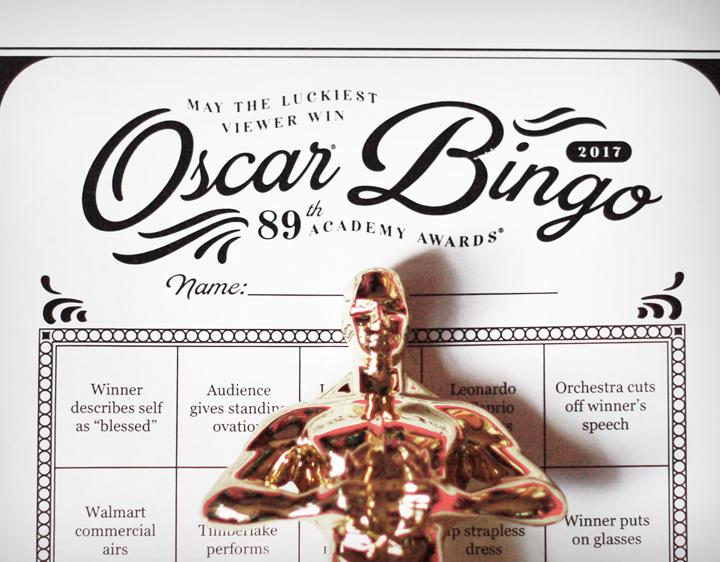 Oscar bingo by Jessica Jones