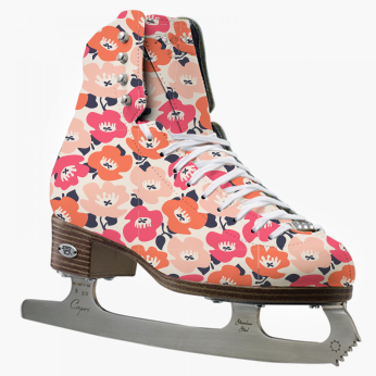 Patterned figure skate with pattern