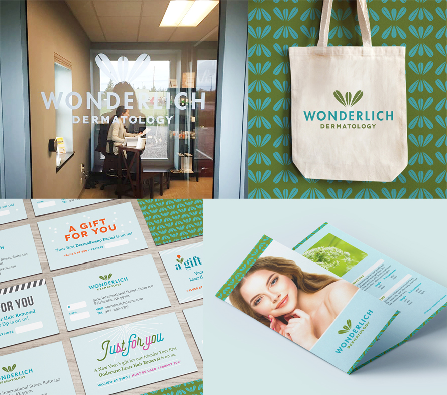 small business branding collage