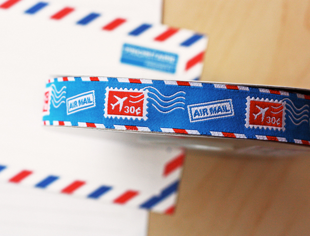 Airmail ribbon by Jessica Jones