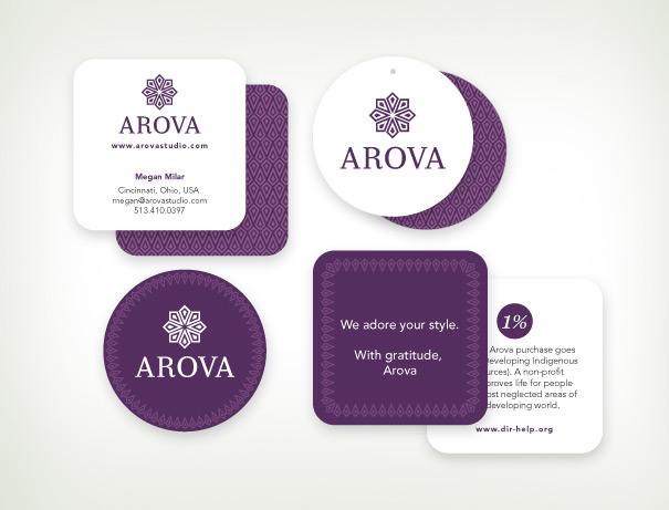 Arova fashion hang tags