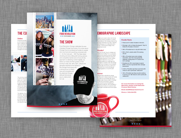 Brochure design for TV pitch