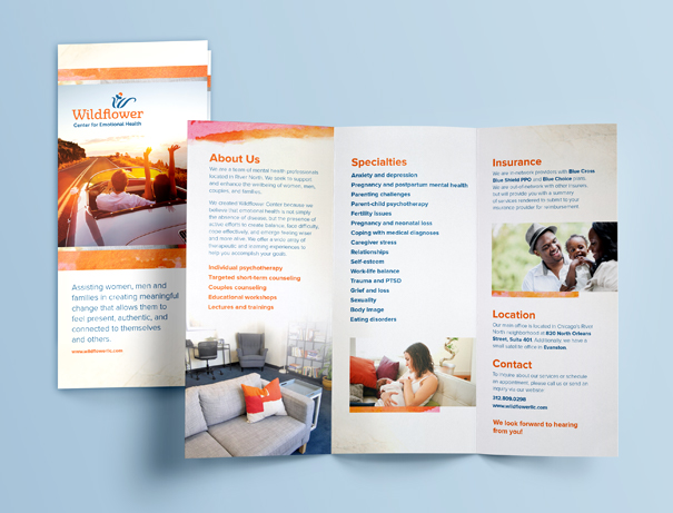 Brochure design for counseling practice