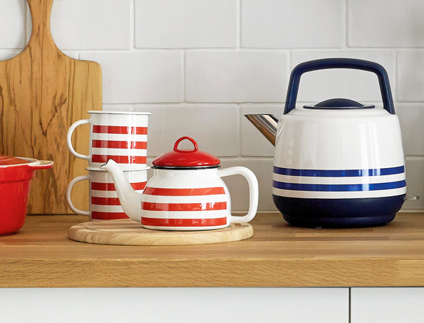 Classic red and blue striped design