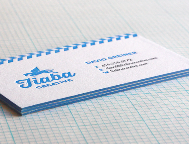 Edge painting on business cards