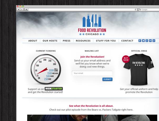 Food Revolution website design