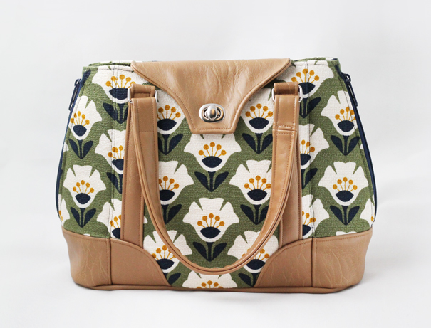 Harriet bag in Holding Pattern fabric