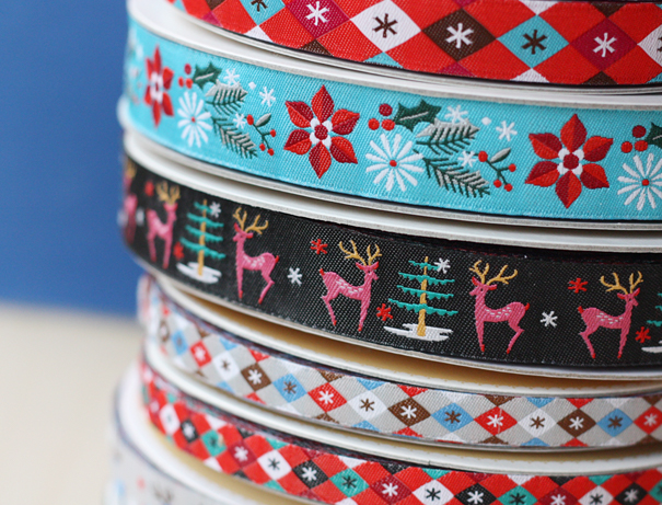 Holiday Christmas ribbon by Jessica Jones