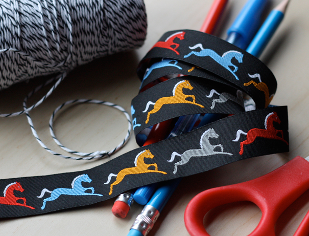 Horse ribbon design by Jessica Jones