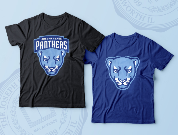 Joseph Sears School mascot panthers tshirt