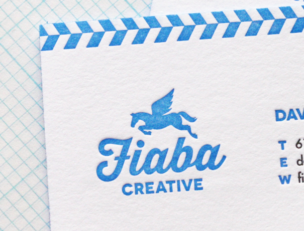 Letterpress logo on business card