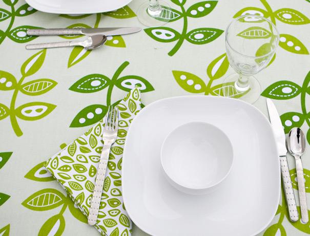 Mod green fabric by surface designer Jessica Jones