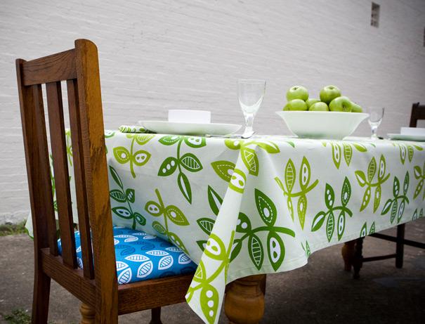 Modern Flora textile design by Jessica Jones