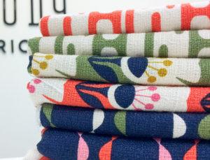 Modern barkcloth fabric