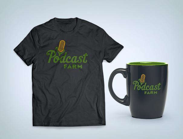 Podcast Farm by logo designer Jessica Jones
