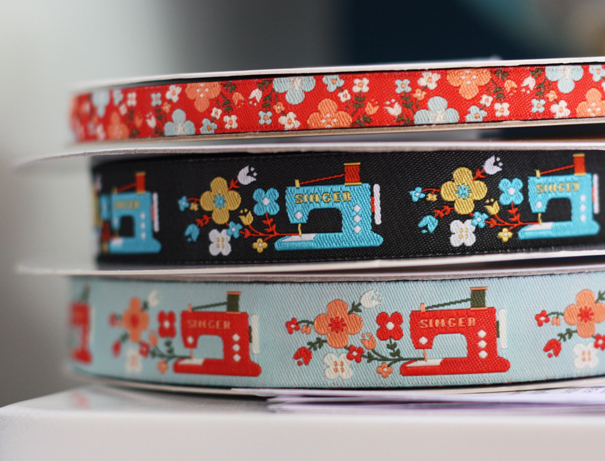 Sewing machine ribbon design