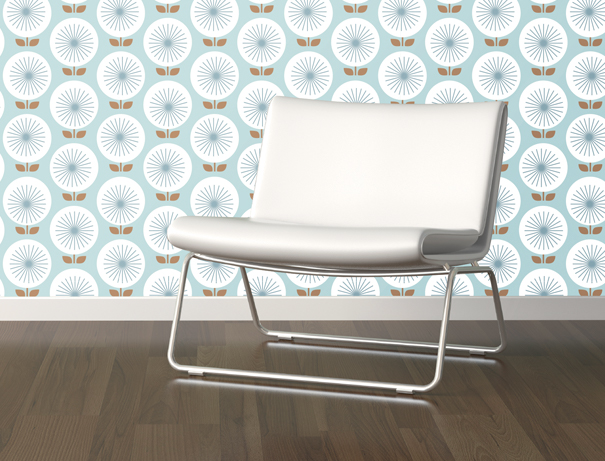 Sunburst retro wallpaper by Jessica Jones