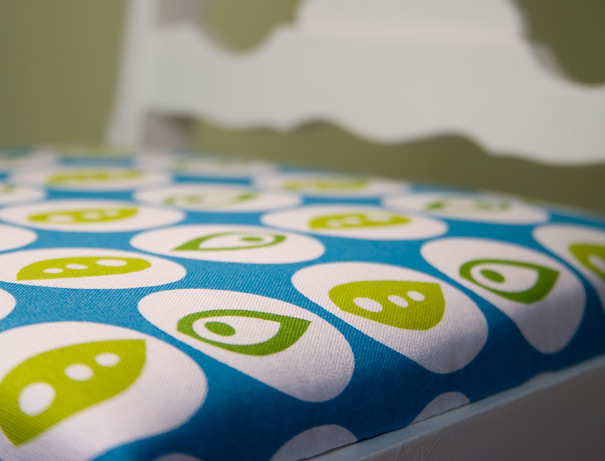 Textile designer blue green print