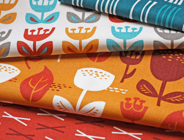 Tulip fabrics by surface designer Jessica Jones