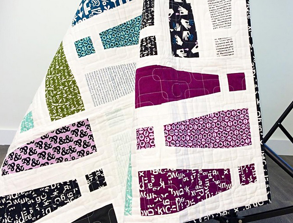 Typography quilt for graphic designer