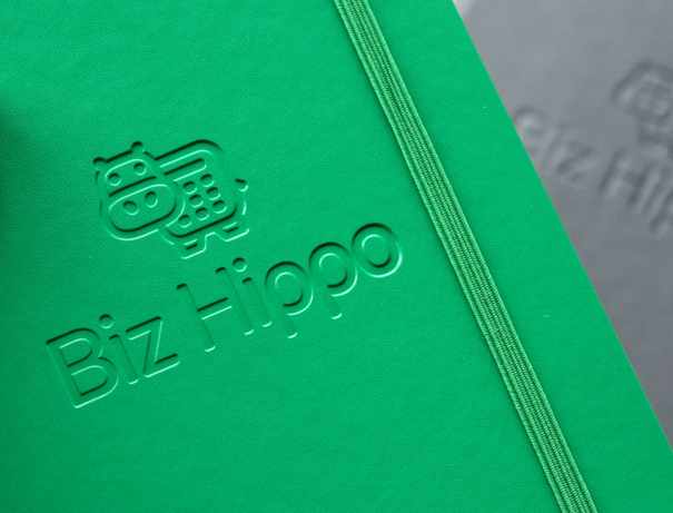 biz hippo debossed logo notebook