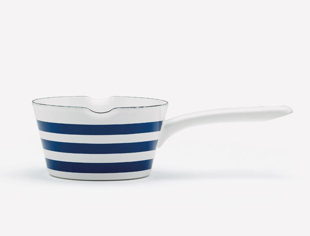 striped milk pan product design