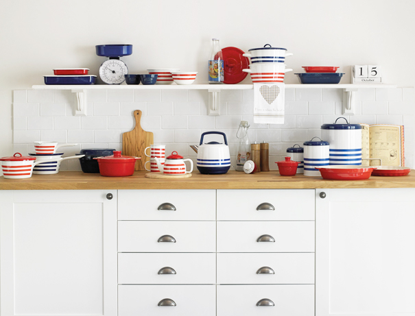 vintage striped kitchenware Jessica Jones