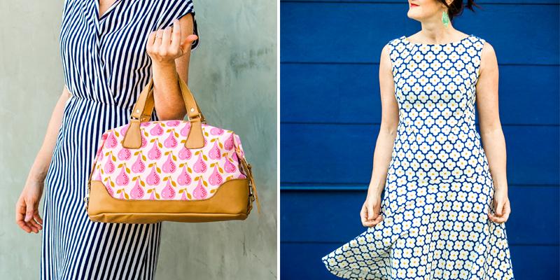 corduroy dress and bag