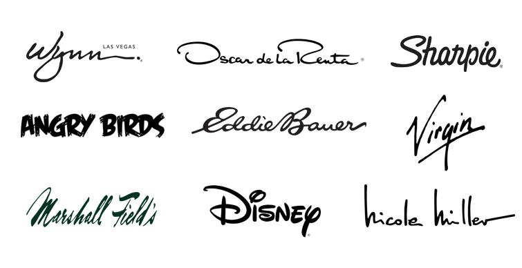 handwriting logo examples