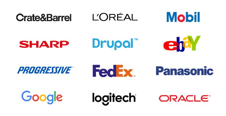 wordmark logo examples: sans serif