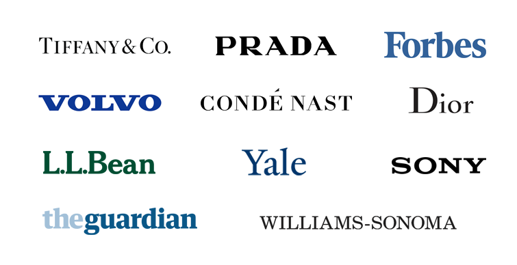 wordmark logo examples: serif