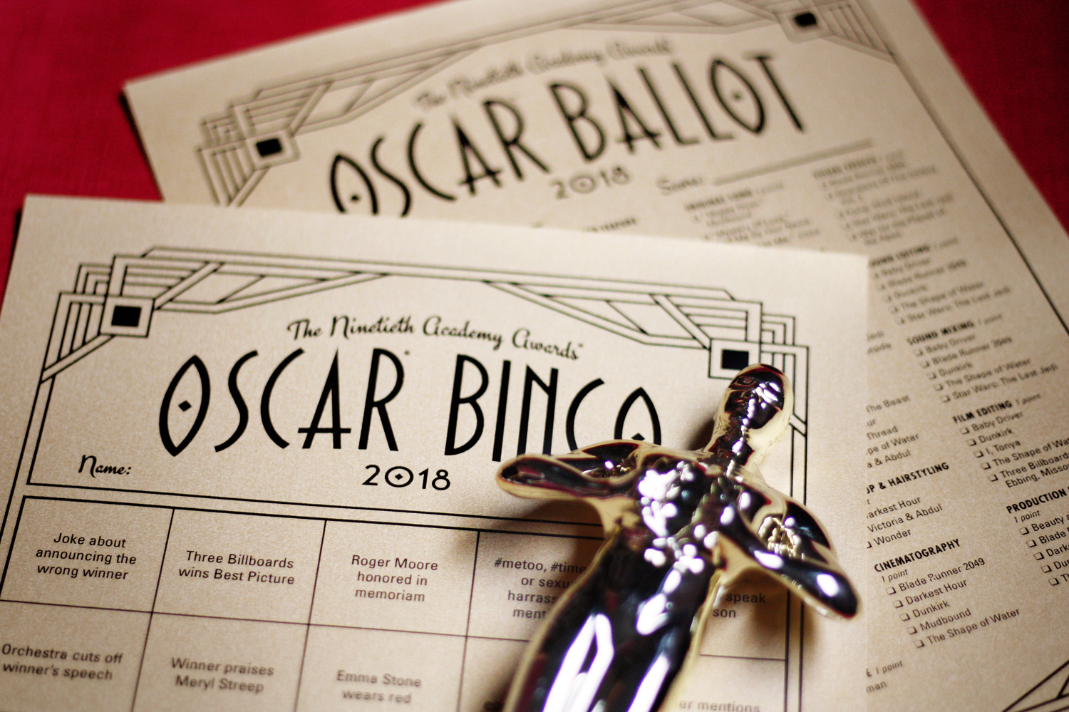 photograph relating to Oscar Ballots Printable titled Oscar bingo 2018 is prepared toward print No cost printable Oscar