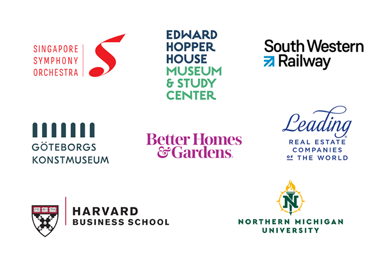 Logos with long company names: examples and approaches